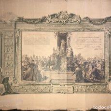 Documentos antiguos: DIPLOMA DE ACTO DE CONSAGRACION A LA SANTISIMA VIRGEN. JEREZ, 1920. MEDIDAS APROX.: 51X69 CM. Lote 179386947