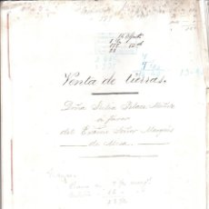 Documentos antiguos: MARQUES DE MISA, JEREZ DE LA FRONTERA. ESCRITURA DE COMPRA VENTA DE TIERRAS. AGOSTO 1900.. Lote 179387535