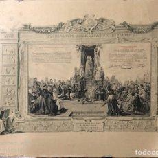 Documentos antiguos: DIPLOMA DE ACTO DE CONSAGRACION A LA SANTISIMA VIRGEN. JEREZ, 1917. MEDIDAS APROX.: 51X69 CM. Lote 179389605