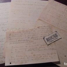 Documentos antiguos: CARDEDEU / TOMAS BALVEY - 4 HOJAS MANUSCRITAS TEMAS RELACIONADOS CON LA VILLA . Lote 179521632