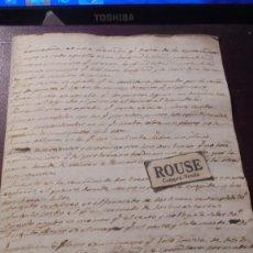 Documentos antiguos: ENSEÑANZA - GEOMETRIA DOCUMENTO MANUSCRITO DE TOMAS BALVEY - CARDEDEU 4 PAG. 21X15 CM. . Lote 179522662