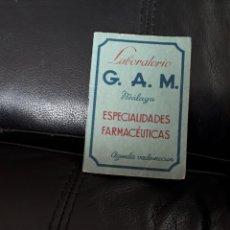Documentos antiguos: AGENDA LABORATORIO GAM AÑO 1949. Lote 179523520