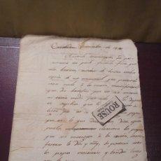 Documentos antiguos: CARDEDEU - ANTIGUA CARTA MANUSCRITA 3 NOV. 1814 POR JOSEP BASCANDIA Y VILÁ - 2 HOJAS . Lote 179526763