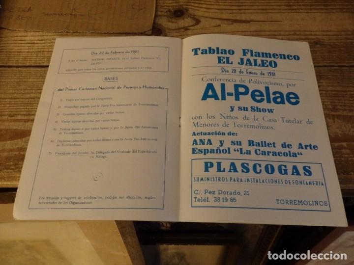 Documentos antiguos: TORREMOLINOS, 1981, PROGRAMA 1º CERTAMEN NACIONAL DE PAYASOS Y HUMORISTAS,RARO, 8 PAGINAS - Foto 4 - 180121246