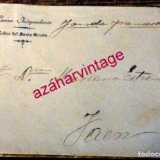 Documentos antiguos: CABRA DEL SANTO CRISTO, JAEN, PRINCIPIOS SIGLO XX, SOBRE MEMBRETE CASINO INDEPENDIENTE. Lote 180127142