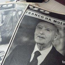 Documentos antiguos: 5 PERIODICOS MUERTE DE FRANCO, CAPILLA ARDIENTE, ETC. Lote 180261132