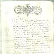 Documentos antiguos: 3695.- TITULO DE REGIDORES DE LA VILLA DE REUS TARRAGONA AÑO 1829. Lote 180312665