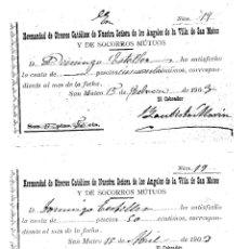 Documentos antiguos: SAN MATEO (CASTELLÓN) - RECIBOS DE 1903. Lote 180403982