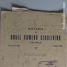 Documentos antiguos: ESCRITURA VALENCIA - 1950 - FAMILIA SERRA CUCÓ - URSINOS POLO BERNABÉ - JOSÉ SOTO SERRA. Lote 180415027