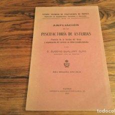 Documentos antiguos: AMPLIACION DE LA PISCIFACTORIA DE ASTURIAS POR EUGENIO GUALLART, MADRID 1911MOLINO DEL ORRIN. Lote 180472068