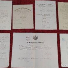 Documentos antiguos: DOCUMENTACIÓN VINCULADA A JUAN CASADEMUNT VIDAL. GRABADO. MANUSCRITO. ESPAÑA. XIX. Lote 180476715