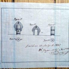Documentos antiguos: CÉDULA ALUMBRADO INVENCIÓN INTENSIDAD LUMINOSA BARCELONA JAIME ARBÓS 1867 GAS VAPOR COMBUSTIBLE . Lote 180485298