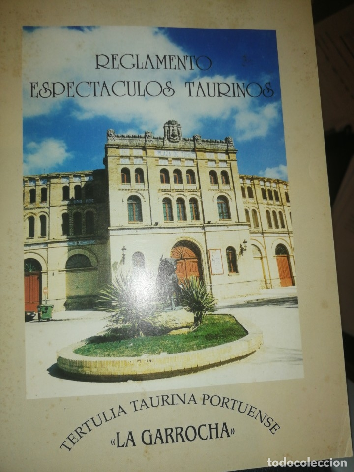 REGLAMENTO ESPECTÁCULOS TAURINOS. TERTULIA TAURINA PORTUENSE (Coleccionismo - Documentos - Otros documentos)