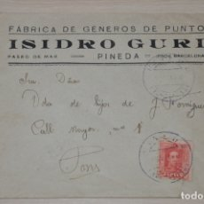 Documentos antiguos: SOBRE ISIDRO GURI, PINEDA DE MAR. Lote 180861768
