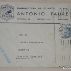Documentos antiguos: SOBRE ANTONIO FAURE, BARCELONA. Lote 180861852