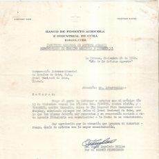 Documentos antiguos: 1960. BANCO DE FOMENTO AGRICOLA E INDUSTRIAL DE CUBA. VENCIMIENTO DE POLIZA DE SEGURO PARA CICLON. Lote 180933898