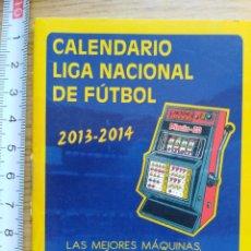 Documentos antiguos: ALMANAQUE - CALENDARIO LIGA NACIONAL DE FÚTBOL 2013-2014. Lote 180945025