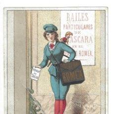 Documentos antiguos: INVITACIÓN BAILE DE MÁSCARAS.- SOCIEDAD ROMEA. TEATRO LICEO. GASPAR. BARCELONA- 1881 (CIRCULADA). Lote 181519693