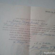 Documentos antiguos: MENGÍBAR, JAÉN - SOBRE EXISTENCIAS DE ACEITE DE OLIVA - 1935 - ÉPOCA 2ª REPÚBLICA ESPAÑOLA. Lote 181665515