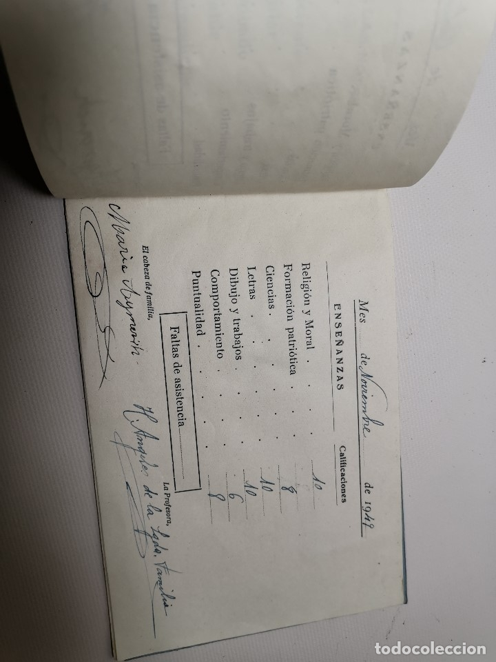 Documentos antiguos: BOLETIN NOTAS- CARTILLA ESCOLAR -COLEGIO SAGRADO CORAZON EL VENDRELL 1949 --REF-ZZ - Foto 5 - 181949798