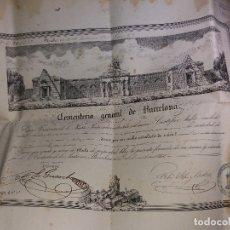 Documentos antiguos: TÍTULO CEMENTERIO GENERAL DE BARCELONA - AÑO 1865. Lote 182099220