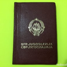 Documentos antiguos: PASAPORTE YUGOSLAVO DE 1966, CON MUCHOS SELLOS. Lote 182103300