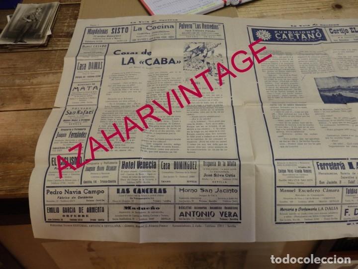 Documentos antiguos: SEVILLA, 1956, LA VELA DE SANTANA, PROGRAMA FIESTAS, 4 PAGINAS,32X44 CMS, RARISIMA - Foto 2 - 182292176