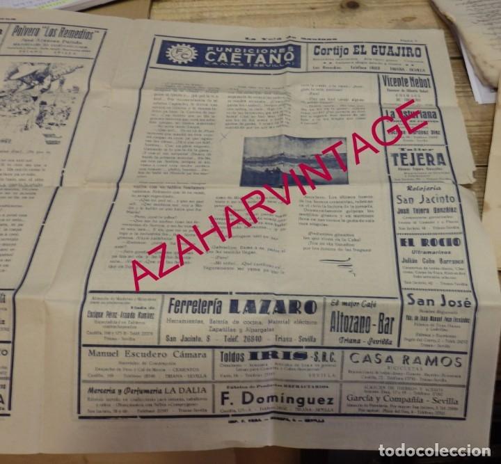 Documentos antiguos: SEVILLA, 1956, LA VELA DE SANTANA, PROGRAMA FIESTAS, 4 PAGINAS,32X44 CMS, RARISIMA - Foto 3 - 182292176