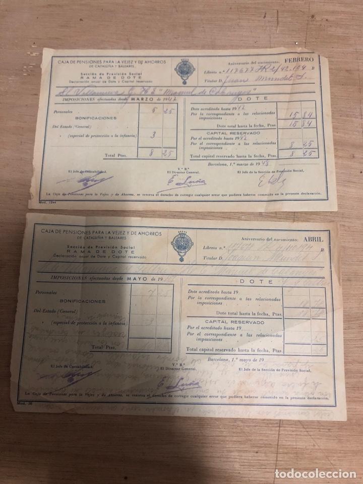 CAJA DE PENSIONES PARA LA VEJEZ Y AHORRO (Coleccionismo - Documentos - Otros documentos)