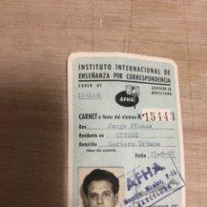 Documentos antiguos: INSTITUTO INTERNACIONAL DE ENSEÑANZA POR CORRESPONDENCIA. Lote 182501991