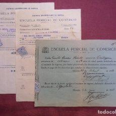Documentos antiguos: REPUBLICA.ESCUELA PERICIAL DE COMERCIO.MURCIA 1933.. Lote 182511475