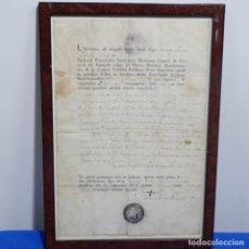 Documentos antiguos: DOCUMENTO MANUSCRITO EN LATÍN DEL AÑO 1817.. Lote 182545865