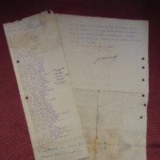 Documentos antiguos: GUERRA CIVIL.ALICANTE,6 NOVIEMBRE 1936.LISTADO DESAFECTOS AL REGIMEN DE LA POBLACION DE NOVELDA.. Lote 182618205