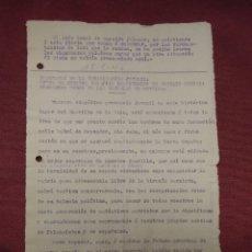 Documentos antiguos: NOVELDA.FIESTA DEL ARBOL 18/2/1940.REPOBLACION FORESTAL ZONA DEL CASTILLO DE LA MOLA.. Lote 182618622