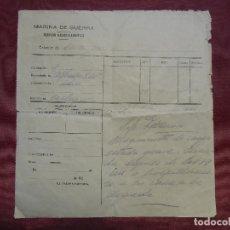 Documentos antiguos: ACORAZADO ALFONSO XIII-MARINA DE GUERRA.SERVICIO RADIOTELEGRAFICO,ESTACION DE CARTAGENA,AÑOS 20.. Lote 182620490