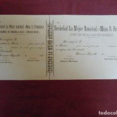 Documentos antiguos: SOCIEDAD LA MEJOR AMISTAD-MINA S.FRANCISCO.PRECILLA BAJA(CIUDAD REAL) 1880.. Lote 182625535