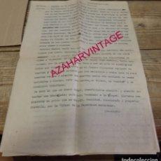 Documentos antiguos: SEMANA SANTA SEVILLA, 1950, GUION PROGRAMA DE RADIO, 8 PAGINAS. Lote 182680407