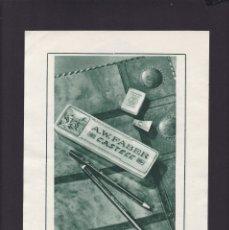 Documentos antigos: A. W. FABER CASTELL - 26 DE ENERO DE 1936 - ORIGINAL RECUPERADO PUBLICACION. Lote 182710526