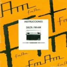 Documentos antiguos: RADIO VANGUARD DELTA. INSTRUCCIONES DE USO AÑO 1968. Lote 183042140