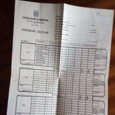 Documentos antiguos: EXPEDIENTE ESCOLAR INSTITUTO NACIONAL DE BACHILLERATO. Lote 183074668