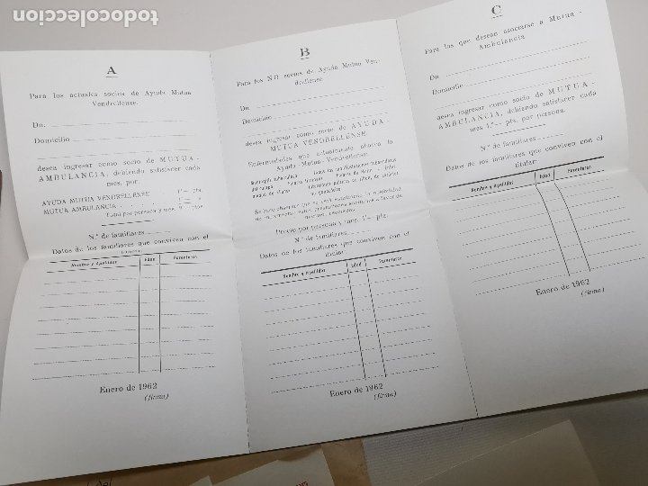 Documentos antiguos: PLIEGO DE DOCUMENTOS DEL HOSPITAL SANTISIMO SALVADOR VENDRELL-SECCION AMBULANCIAS 1961---- REF-ZZ - Foto 4 - 183089296