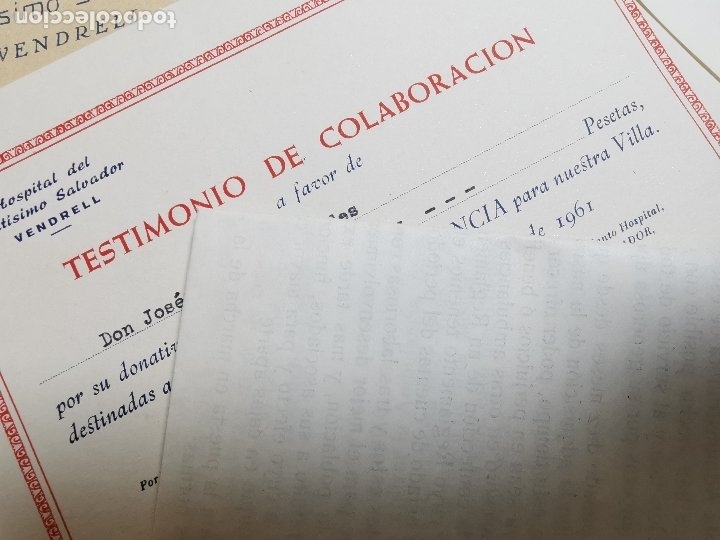Documentos antiguos: PLIEGO DE DOCUMENTOS DEL HOSPITAL SANTISIMO SALVADOR VENDRELL-SECCION AMBULANCIAS 1961---- REF-ZZ - Foto 7 - 183089296