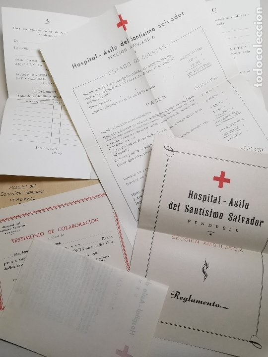 Documentos antiguos: PLIEGO DE DOCUMENTOS DEL HOSPITAL SANTISIMO SALVADOR VENDRELL-SECCION AMBULANCIAS 1961---- REF-ZZ - Foto 9 - 183089296
