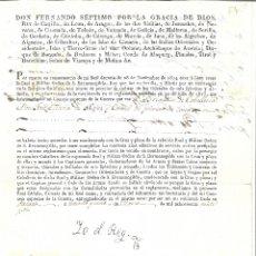 Documentos antiguos: NOMBRAMIENTO DE LA R O DE SAN HERMENEGILDO Y FIRMA AUTOGRAFA DEL REY FERNANDO VII. Lote 183252977