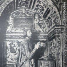 Documentos antiguos: TOLEDO CATEDRAL SEPULCRO ANTIGUA LAMINA HUECOGRABADO. Lote 183253306
