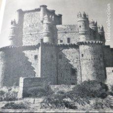 Documentos antiguos: GUADAMUR TOLEDO CASTILLO ANTIGUA LAMINA HUECOGRABADO. Lote 183253795