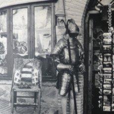 Documentos antiguos: TOLEDO UN COMERCIO RECUERDOS ANTIGUA LAMINA HUECOGRABADO. Lote 183254015