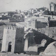 Documentos antiguos: TOLEDO PUENTE Y VISTA ANTIGUA LAMINA HUECOGRABADO. Lote 183254103