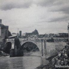 Documentos antiguos: TOLEDO PUENTE ANTIGUA LAMINA HUECOGRABADO. Lote 183255190
