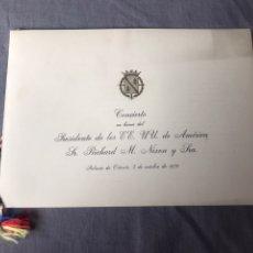 Documentos antiguos: CONCIERTO EN HONOR DEL PRESIDENTE DE LOS EE.UU DE AMÉRICA SR. RICHARD M. NIXON Y SRA - 1970. Lote 183563463